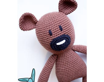 Mr.Bean's Teddy Bear. Crochet amigurumi toy. Handmade toy.