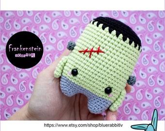 Frank the Frankenstein Monster. Crochet amigurumi toy