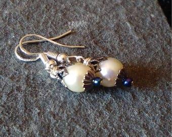 Pearl Earrings - Freshwater Pearl Drop Earrings - Dangle Earrings - Pearl Dangle Earrings - Bridal - Bridesmaid