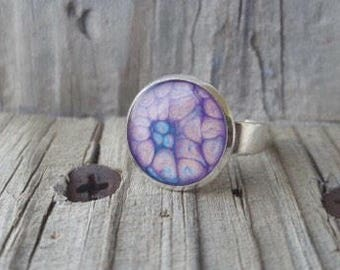 bezel ring purple rings ring blanks effect paint silver rings purple and blue colorful jewelry kids jewelry