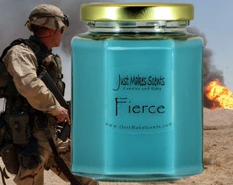 Fierce Candle - Compare to Abercrombie & Fitch Fragrance - Homemade Fierce Scented Soy Candle - Free Shipping on Orders of 6 or More