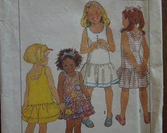 Simplicity 9679, pullover tank dress, UNCUT sewing pattern, craft supplies, girls,