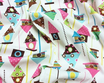 Robert Kaufman - Urban Zoologie Birdhouses patchwork quilting dressmaking fabric