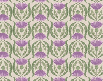A237-1 Celtic Blessings Thistle on Cream Lewis & Irene Patchwork Quilting Fabric
