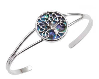 Tide Jewellery Paua Shell Celtic Tree Of Life Bangle Bracelet Gift Boxed