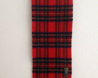 Wool Scarf by Johnstons of Elgin - Plaid Wool Scarf Red - Red Wool Scarf