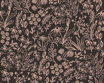 Yes Please -  Main Rose Gold by My Mind's Eye for Riley Blake, 1/2 yard, SC6550-Rose Gold