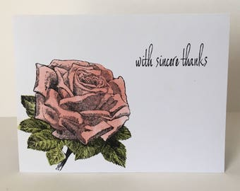 Rose Thank You Card for All Occasions