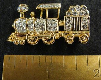 Vintage locomotive brooch