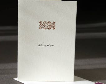Thinking of You card, letterpress printed