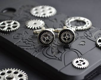 Steampunk cufflinks men cufflinks minimalist cufflinks unique men jewelry gift Original personalized gift steampunk jewelry steampunk men