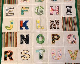 Alphabet ISPY Handmade Quilt