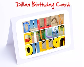 Dillan Personalised Birthday Cards