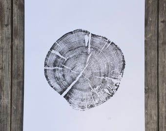 Grand Tetons, National Parks art, Pine Tree Print, Wyoming Art, National Parks Art, Tree Ring Print, gift for guys, fathers day, dad gifts