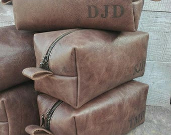 Leather Dopp Kit, Personalized, Toiletry Bag Men, Shaving kit, Groomsmen Dopp Kit, Antique, Dopp bag, Mens Dopp Kit, Custom Groomsmen