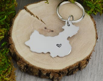 China Keychain - Best Friend Gift - Couples Gift - Long Distance Love