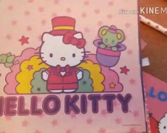 Coffee & Crafts Envelope ~ June Month Hello Kitty Surprise Scrapbook ~ Planner~ Stationary Fun Envelope