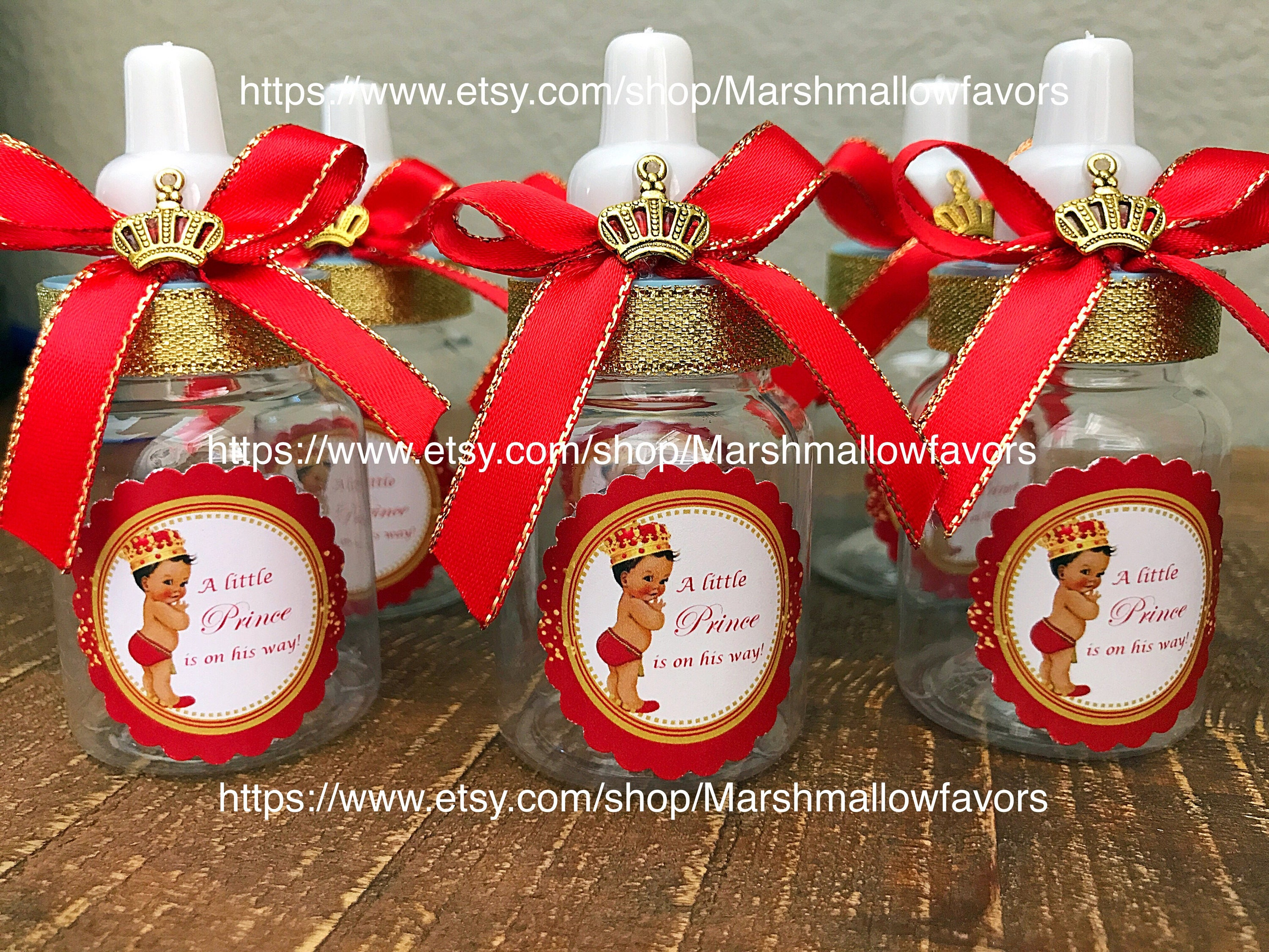 12 Little prince Baby shower favors royal prince baby
