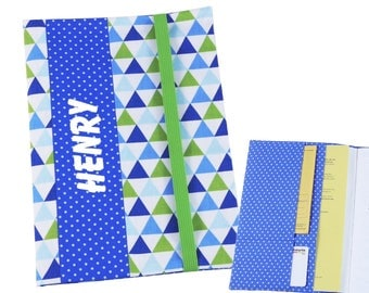"Cover A5 ""Triangle"", for notebook, daily planner, journal or exercise book"