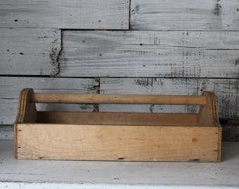 wooden tool box etsy. rustic tool tote / vintage wooden box etsy n