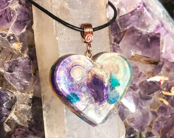 Goddess Crystal Necklace ~ Amethyst Orgone Pendant ~ Violet Flame Orgone Jewelry