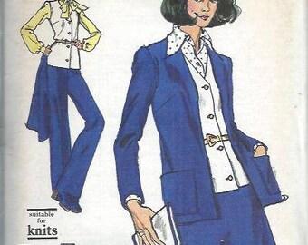 VINTAGE Vogue 8533 Very Easy Half Size Misses Jacket, Vest, Skirt and Pants Pattern, Size 14 UNCUT