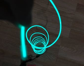 Green EL wire 6' ft Led String for light up EL mask EL costume Light Up Robot Cyborg Masquerade Edm Cybernetic Dj Cosplay Rave