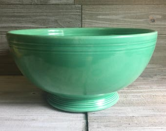 Vintage Fiesta Footed Salad Bowl - RARE (FREE SHIPPING)
