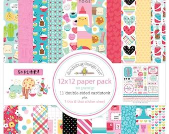 Valentines  So Punny with Doodlebug Design So Punny 12 x12 Cardstock Paper pack