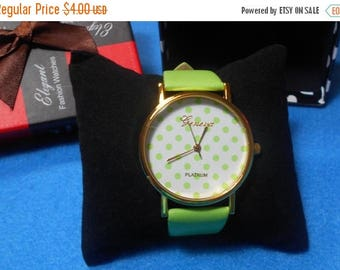 ON SALE CLEARANCE Lime Green Watch In Gift Box