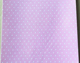 Fabric adhesive pattern: pink dots 200 x 150 mm (A5)