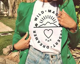 Wild Magic Desert Tee / southwest t shirt / arizona shirt / cactus tshirt