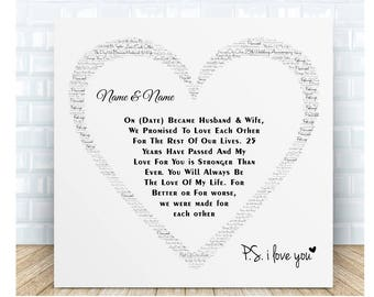 25th 30th 40th 50th Our Anniversary Ceramic Plaque. Personalised Gift