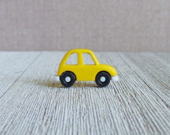 Car - Yellow - Vacation - Road Trip - Sixteen - Gift - First Car - Coupe - Lapel Pin
