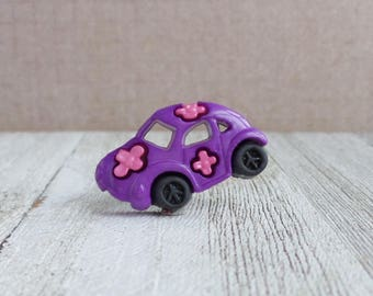 Hippy Car - Peace and Love - Love Bug - VW - 70's - Lapel Pin