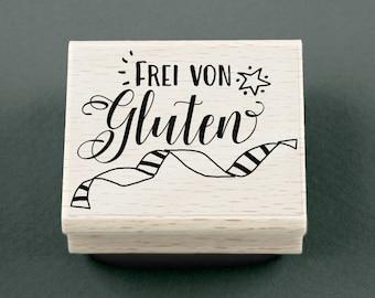 Rubber Stamp Frei von Gluten 4,5 x 3,5 cm