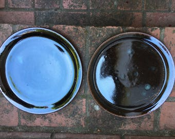 Set of Two Handmade Ceramic Plates