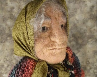 Needle felted Doll, Needle felted sculpture, Needle felted woman, Needle felted Art doll, Mixed Media doll, OOAK Art doll