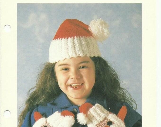 Retrocon Sale - Child's Santa Hat and Mittens crochet pattern download