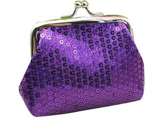 1 X purple sequin purse