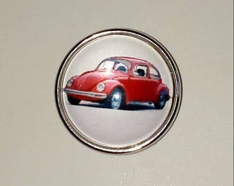 Snap car Ladybug red 18mm