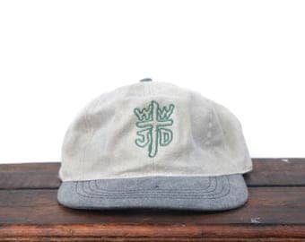 Vintage 90's Distressed Worn WWJD? What Would Jesus Do Unstructured Strapback Hat Baseball Cap