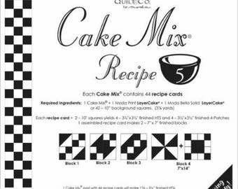 Cake Mix Recipe #5 - Quilt Pattern - Layer Cake Friendly - Miss Rosie's Quilt Company