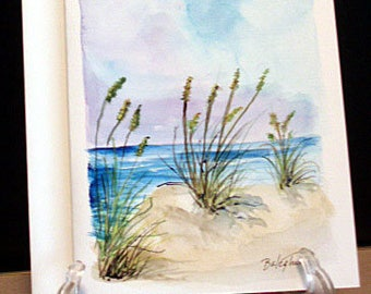 SAND DUNES - Original Watercolor Blank Greeting Card
