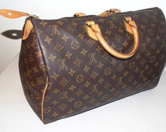 Authentic Louis Vuitton Monogram Canvas SPEEDY 40 BOSTON TOTE  Bag