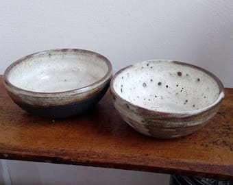 Black clay nesting bowls