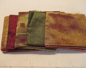 Fat Quarters - Metallic Fabric Bundle