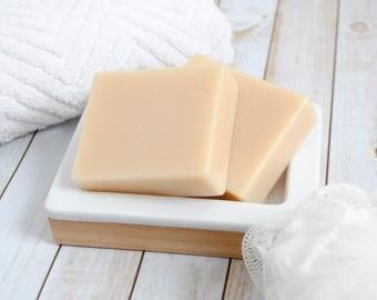 Unscented Goat Milk Soap - Homemade Soap - Goat's Milk Soap - Plain Goat Milk Soap - Unscented Artisan Soap - Fragrance Free Goat Milk Soap