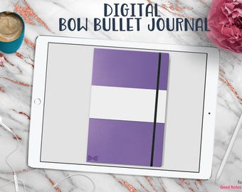 Bow Bullet Journal | Digital Planner for Goodnotes with Working Tabs | Iris