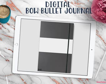 Bow Bullet Journal | Digital Planner for Goodnotes with Working Tabs | Onyx